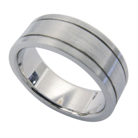 14kt white gold pipe cut s wedding band rock n gold