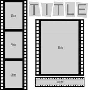Cut and Paste Sketch: Film Strip Layout - Pazzles Craft Room