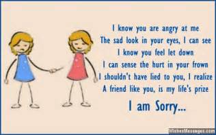 i am sorry messages for friends apology quotes and notes wishesmessages