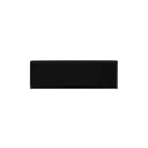 black ceramic tile home depot daltile semi gloss black 2 in x 6 in ceramic bullnose wall tile k111s42691p2 the home depot
