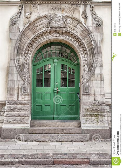 green door art nouveau stock photo image