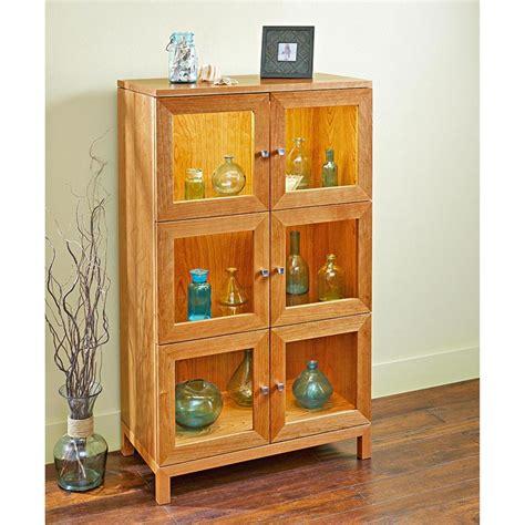 illuminated curio cabinet plan  wood magazine