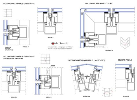 curtain wall details dwg drawings