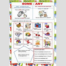 Welcome To English  Some, Any  Quantifiers  English Esl Worksheets