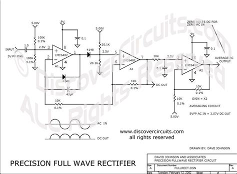 circuit precision fullwave rectifier circuit designed