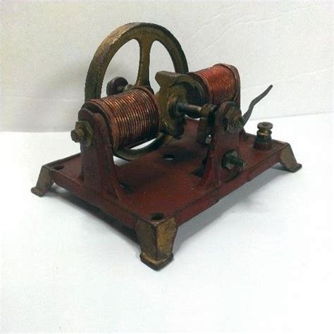 Antique Electric Motor by Antique Vintage Working 6 Volt Bi Polar Dynamo Electric
