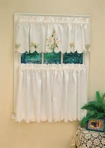 curtain bath outlet lily embroidered curtain tier