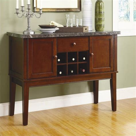 Marble Sideboards by Trent Home Decatur Marble Server In Espresso Buffet Table