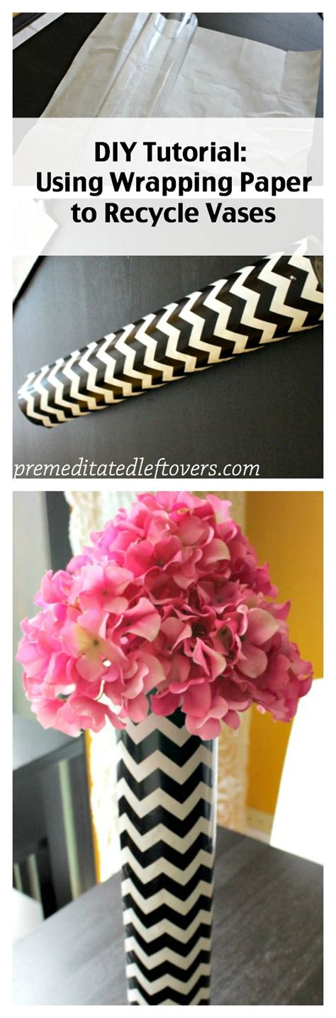 how to decorate vase how to use wrapping paper to decorate vases