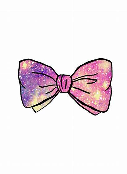 Bow Glitter Girly Clipart Sparkle Transparent Purple