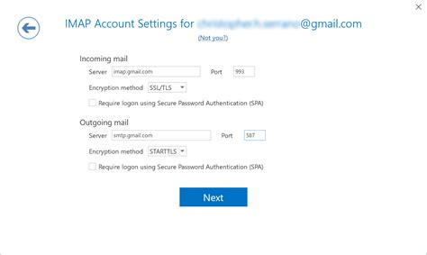 Office 365 Outlook Gmail Settings by Integration Of Gmail In Outlook 2016 Through Imap
