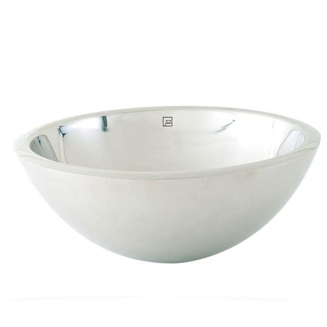 stainless steel vessel sink decolav simply stainless double walled vessel sink in