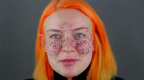 une youtubeuse se fait des taches de rousseur au henn 233 231 a vire au drame potins net