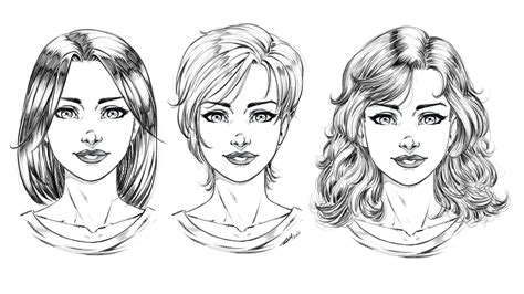 draw comic style hair  ways step  step