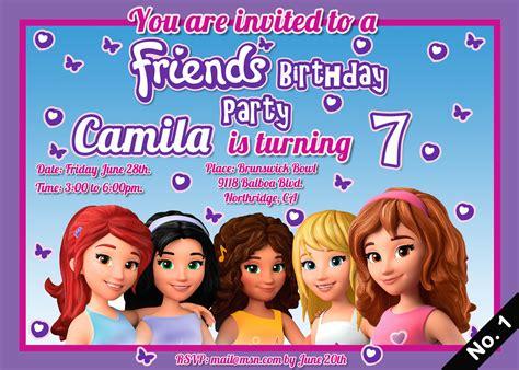 Nice Lego Friends Birthday Invitation 1 Minimalist