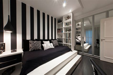 wall painting designs black and white black and white bedroom interior design ideas Bedroom