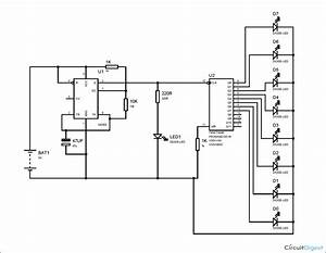 Binary Counter Circuit Diagram Using Ic 555 Timer