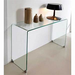 Console Miroir Pas Cher : simple finest meuble design console en verre transparent pas ch re console meuble pas cher ~ Teatrodelosmanantiales.com Idées de Décoration