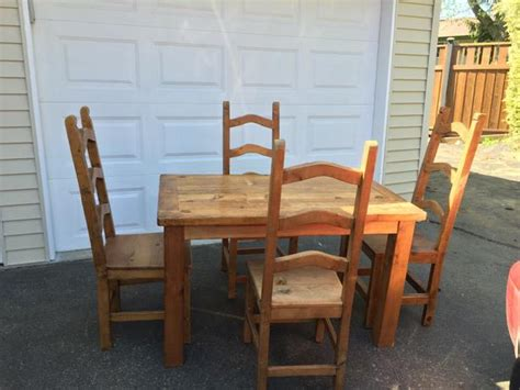 mexican kitchen table and chairs mexican style wood table and chairs nanaimo