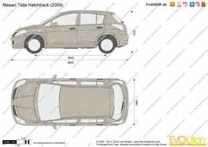 The-Blueprints.com - Vector Drawing - Nissan Tiida Hatchback