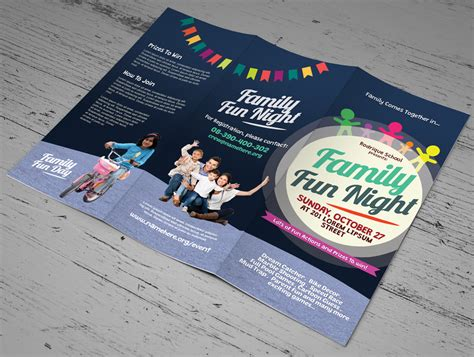 family fun day trifold brochures brochure templates