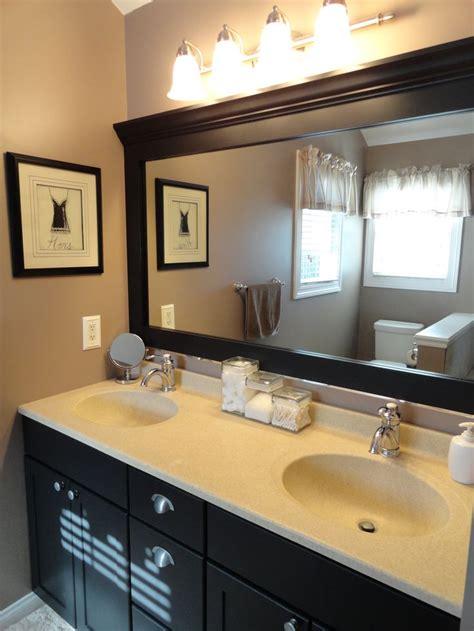 easy   update bathroom paint vanity  frame