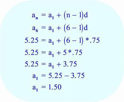 Sequence Arithmetic Term Solving Calculate Math Problems