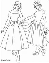 Coloring Pages 1950s Fashioned Adult Nicole Books Coloriage Adults Colouring Printable Printables Princesse Mode Colorier Getcolorings Sheets Print Valentine 1950 sketch template