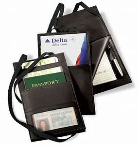 hanging travel document holder With travel document carrier