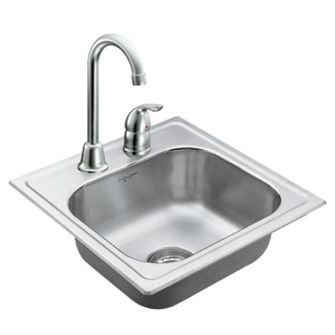 bowl drop in kitchen sink moen 22240 camelot stainless steel 20 single bowl 9611