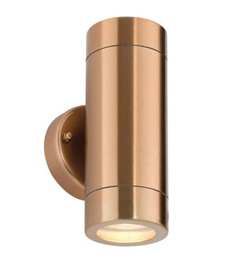 copper up and outdoor wall light ip65 copper
