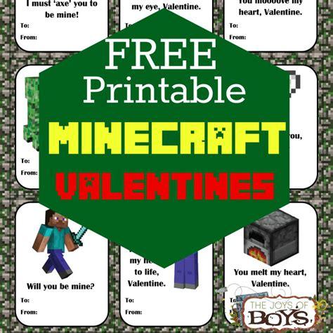 Free Printable Minecraft Valentine Cards