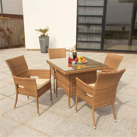 cozy bay caffe latte dining bistro furniture rattan set