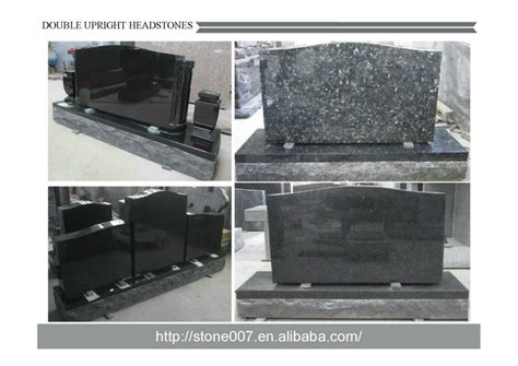 jet black indian granite monuments with