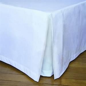 Cache Sommier Blanc : cache sommier blanc 90x190 120x190 140x190 160x200 180x200 200x200 ~ Teatrodelosmanantiales.com Idées de Décoration