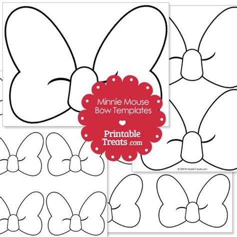 Free Printable Minnie Mouse Bow Template by Printable Minnie Mouse Bow Template From Printabletreats