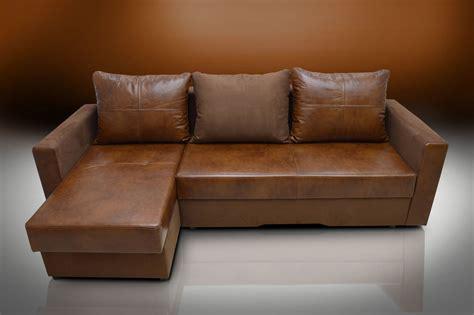 sale real leather bristol corner sofa bed