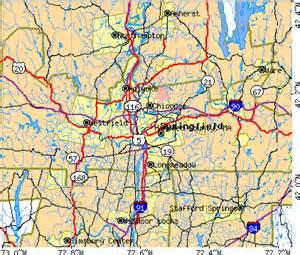 Hampden County MA Map