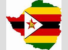 Clipart Zimbabwe Flag Map