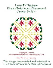 happiness is cross stitching free christmas ornament pattern now available