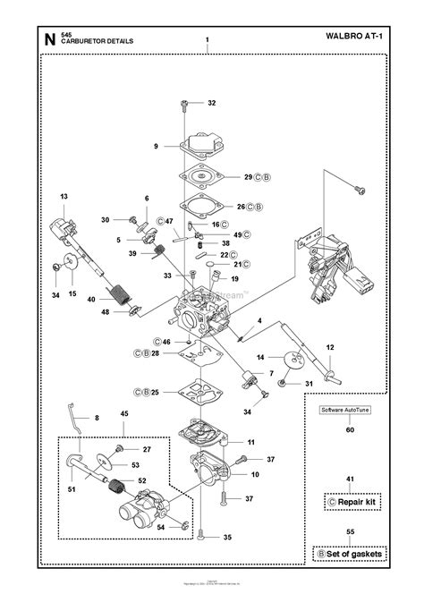 husqvarna    parts diagram  carburetor details