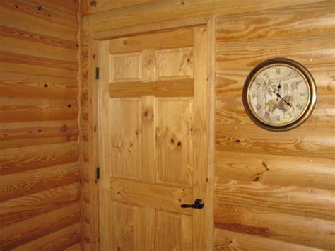 pine log siding interior    clear coat p    log siding pinterest