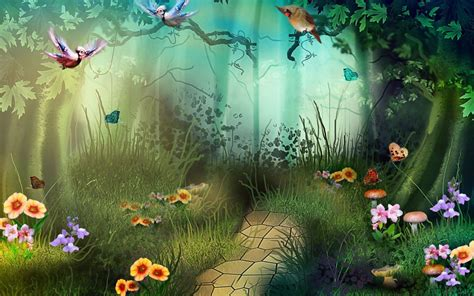 artwork, Fantasy, Magical, Art, Forest, Tree, Landscape ...