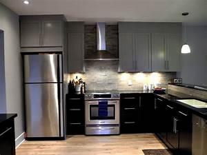 Salon Cuisine Ouverte : cuisine cuisine ouverte sur salon avec marron couleur ~ Melissatoandfro.com Idées de Décoration