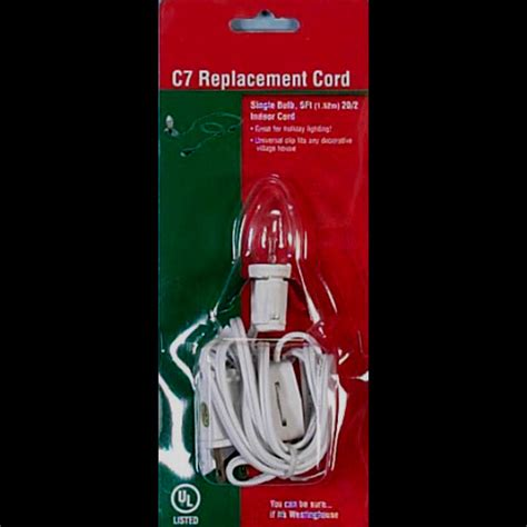 single light replacement cord with c7 bulb c7 outdoor replacement cord