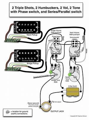 Guitar Wiring Diagram 2 Humbucker 3555 Julialik Es