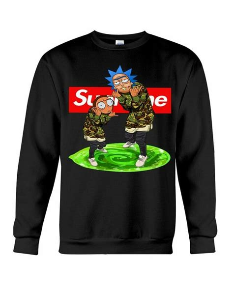 supreme clothes official rick and morty supreme hoodie sweater shirt