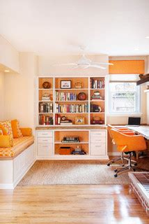 office alcove  philly rowhouse contemporary home