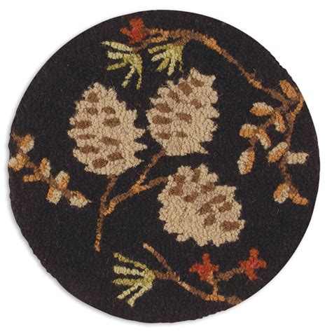 hooked chair pads pinecones berries hooked chair pad
