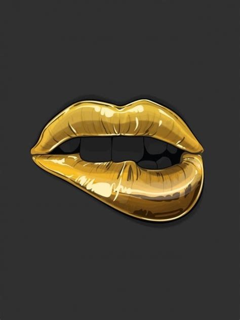 gold lips lip bite makeup lips pinsland httpsappsfacebookcomyangutu trippy